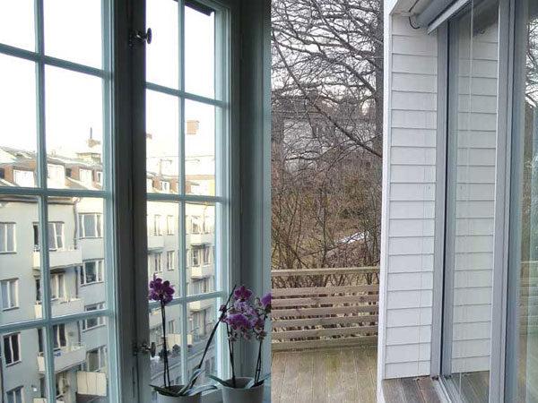 Glasdörr, balkong