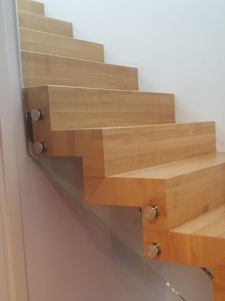 Glasräcke trapp villa